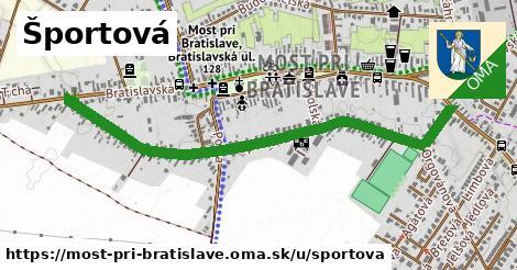 ilustrácia k Športová, Most pri Bratislave - 1,28km