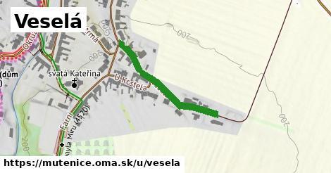 ilustrácia k Veselá, Mutěnice - 285m