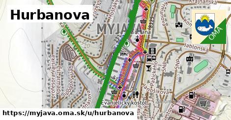 ilustrácia k Hurbanova, Myjava - 1,02km