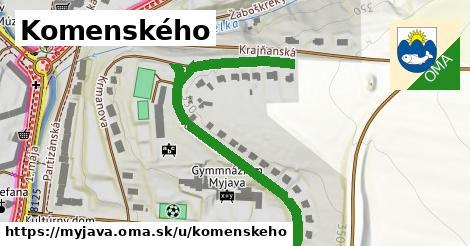 ilustrácia k Komenského, Myjava - 587m