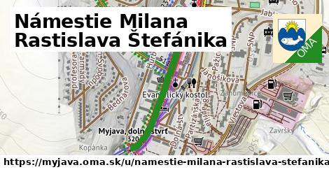 ilustrácia k Námestie Milana Rastislava Štefánika, Myjava - 670m