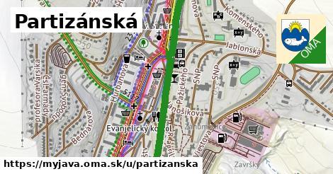 ilustrácia k Partizánska, Myjava - 673m