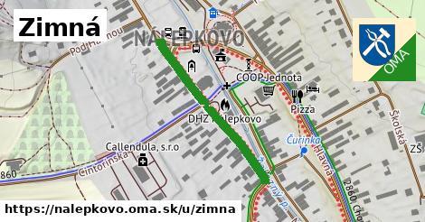 ilustrácia k Zimná, Nálepkovo - 617m