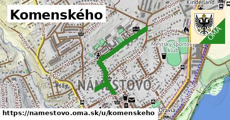 ilustračný obrázok k Komenského, Námestovo