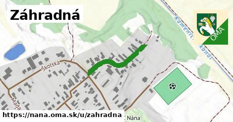 ilustrácia k Záhradná, Nána - 225m