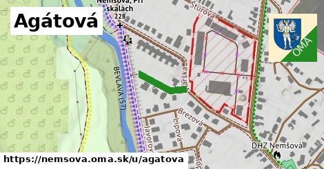 ilustrácia k Agátová, Nemšová - 125m