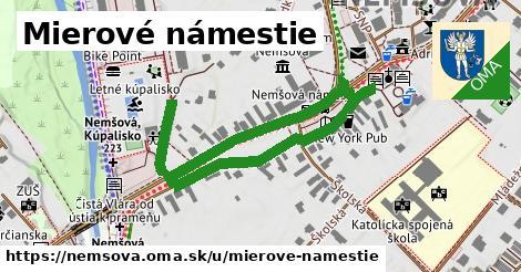ilustrácia k Mierové námestie, Nemšová - 0,96km