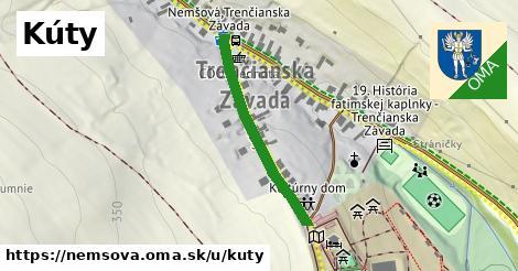 ilustrácia k Kúty, Nemšová - 299m