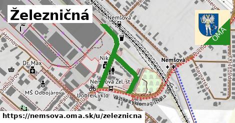 ilustrácia k Železničná, Nemšová - 382m