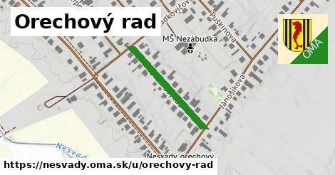 ilustrácia k Orechový rad, Nesvady - 250m