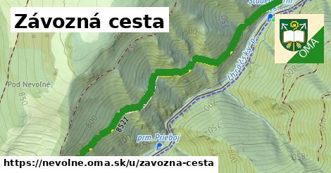 ilustrácia k Závozná cesta, Nevoľné - 1,65km