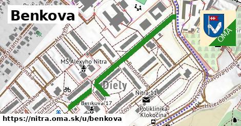 ilustrácia k Benkova, Nitra - 509m