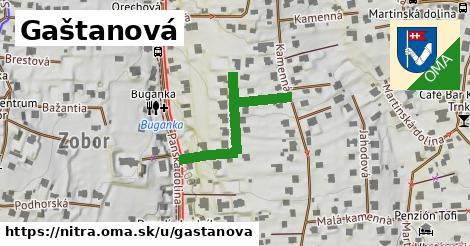ilustrácia k Gaštanová, Nitra - 310m
