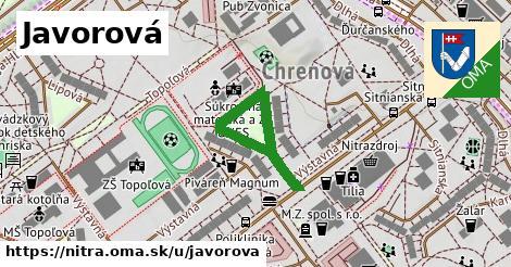 ilustrácia k Javorová, Nitra - 339m