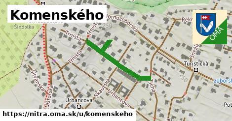 ilustračný obrázok k Komenského, Nitra
