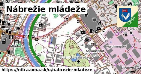 ilustrácia k Nábrežie Mládeže, Nitra - 3,6km