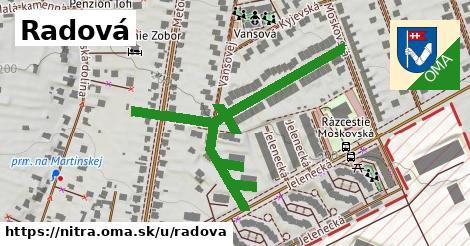 ilustrácia k Radová, Nitra - 651m