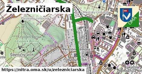 ilustrácia k Železničiarska, Nitra - 1,90km