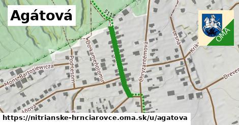 ilustrácia k Agátová, Nitrianske Hrnčiarovce - 269m
