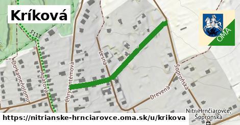 ilustrácia k Kríková, Nitrianske Hrnčiarovce - 384m
