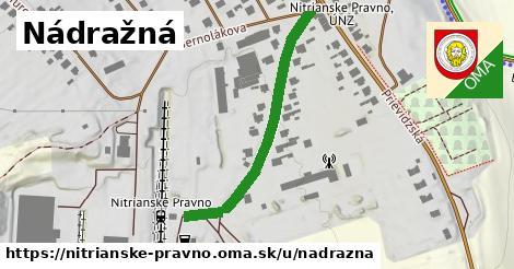 ilustrácia k Nádražná, Nitrianske Pravno - 382m