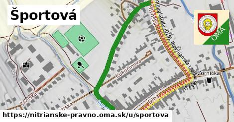 ilustrácia k Športová, Nitrianske Pravno - 475m