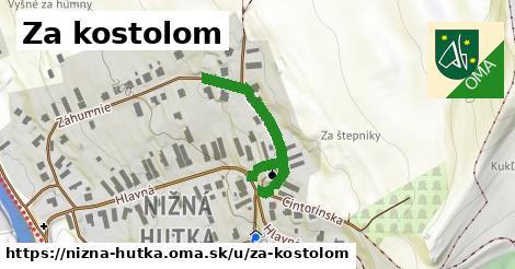 ilustrácia k Za kostolom, Nižná Hutka - 315m
