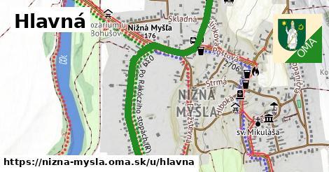 ilustrácia k Hlavná, Nižná Myšľa - 1,51km