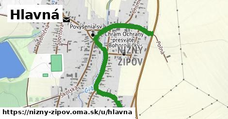 ilustrácia k Hlavná, Nižný Žipov - 1,11km