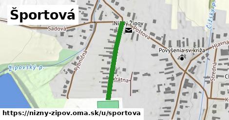 ilustrácia k Športová, Nižný Žipov - 258m