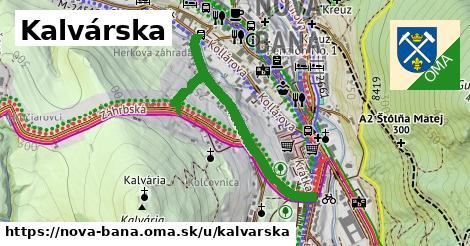 ilustrácia k Kalvárska, Nová Baňa - 691m