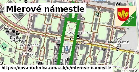 ilustrácia k Mierové námestie, Nová Dubnica - 200m