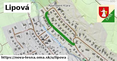 ilustrácia k Lipová, Nová Lesná - 309m