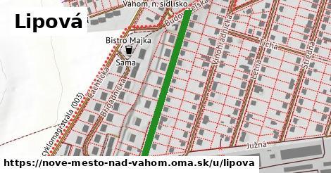 ilustrácia k Lipová, Nové Mesto nad Váhom - 358m