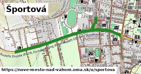 ilustrácia k Športová, Nové Mesto nad Váhom - 1,33km