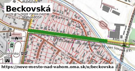 ilustrácia k Beckovská, Nové Mesto nad Váhom - 438m