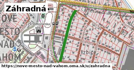 ilustrácia k Záhradná, Nové Mesto nad Váhom - 297m