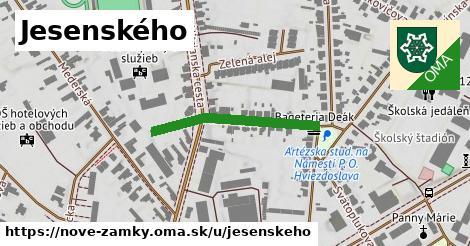 ilustrácia k Jesenského, Nové Zámky - 270m