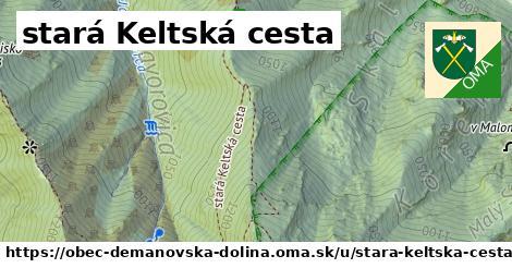 ilustrácia k stará Keltská cesta, obec Demänovská Dolina - 632m