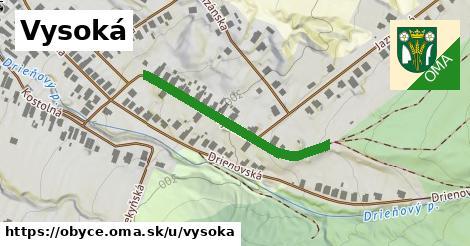 ilustrácia k Vysoká, Obyce - 333m