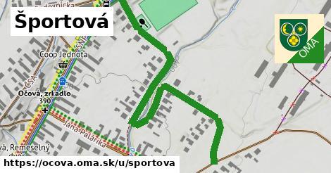 ilustrácia k Športová, Očová - 0,73km
