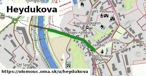 ilustrácia k Heydukova, Olomouc - 191m