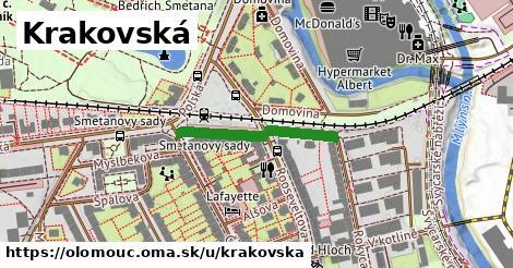 ilustrácia k Krakovská, Olomouc - 233m