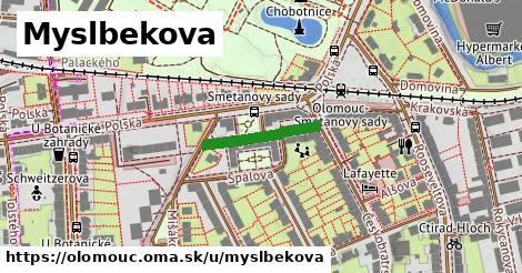 ilustrácia k Myslbekova, Olomouc - 168m