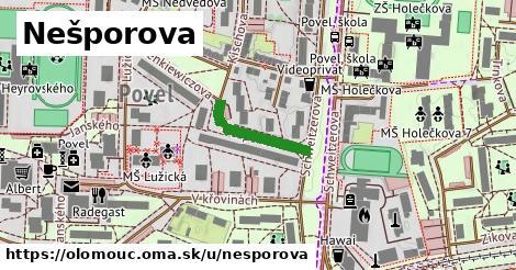 ilustrácia k Nešporova, Olomouc - 164m