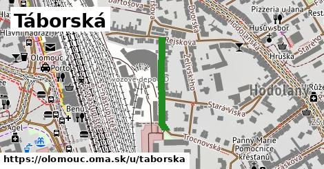 ilustrácia k Táborská, Olomouc - 210m