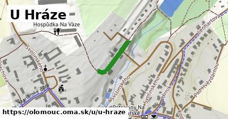 ilustrácia k U Hráze, Olomouc - 150m