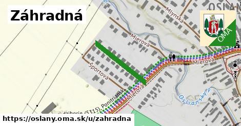 ilustračný obrázok k Záhradná, Oslany