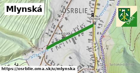 ilustračný obrázok k Mlynská, Osrblie
