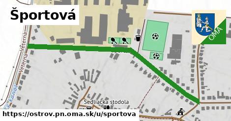 ilustrácia k Športová, Ostrov, okres PN - 607m
